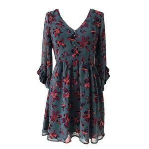 Madewell Moonblossom Ruffle Sleeve Floral Dress